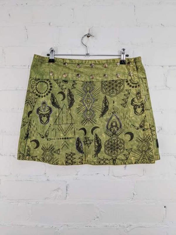 Screen print Short Wrap Skirt