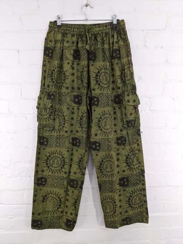 Screen Print Cargo Pants