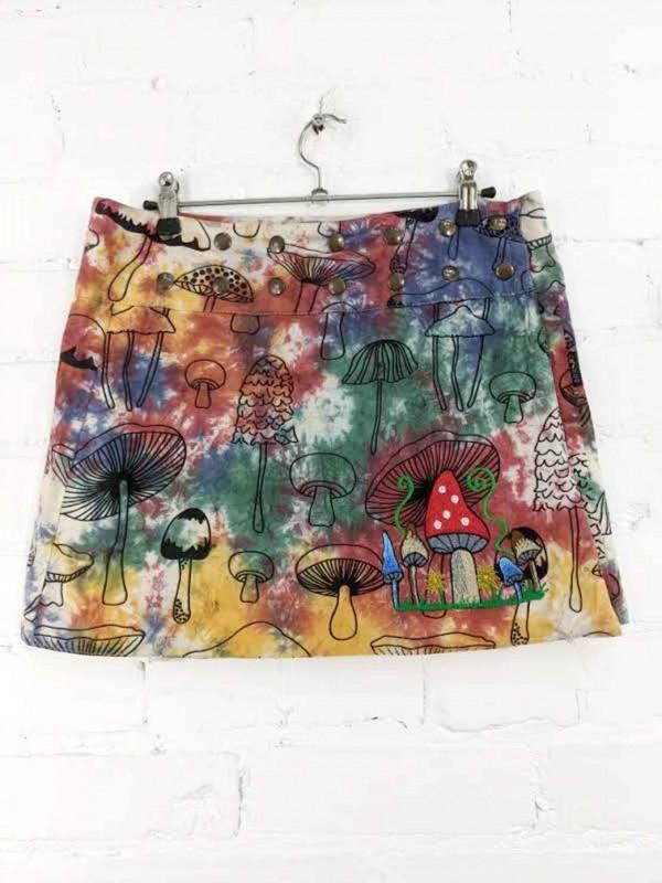 Mushroom 🍄 Print Short Wrap Skirt