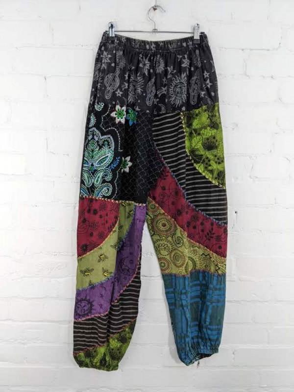 Patchwork Aladdin Pants